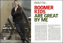 Youngest  City Councillor ever, Adam Giambrone for Reader's Digest