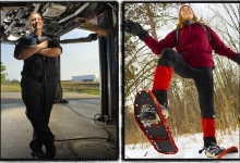 Women in Trades and Snowshoeing with Reader's Digest