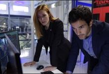 Jennifer Finnigan and Santiago Cabrera consult TESS:  Salvation/CBS
