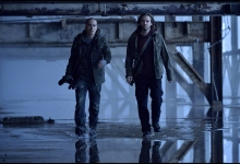 Aaron Stanford and Kirk Acevedo travel back in time: 12 Monkeys for SyFy