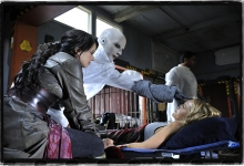 Mia Kirshner, Trenna Keating  and Julie Benz in Defiance for SyFy
