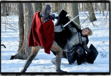 Toby Regbo fends off the bloody English:  Reign for The CW/CBS Studios